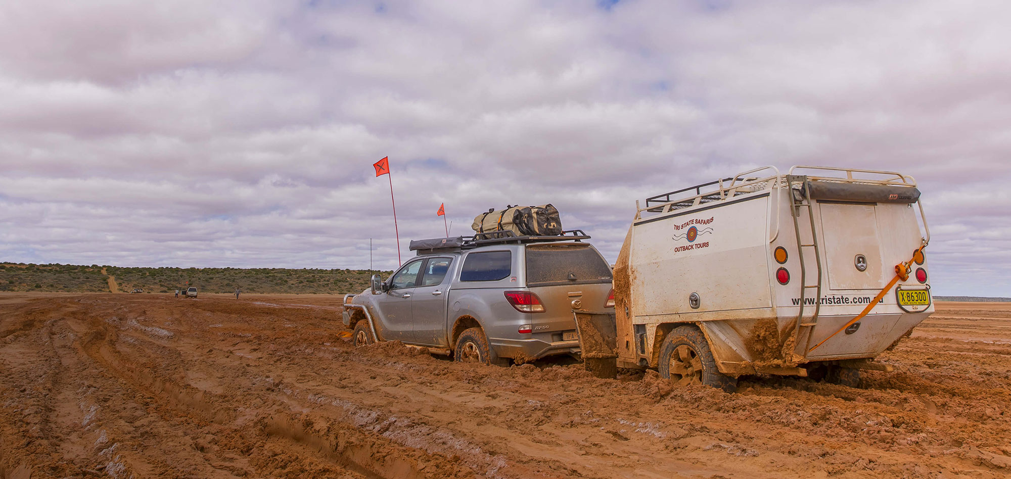 Two best mates travelling the NT in a Land-cruiser. What could be better?